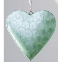 formano Deko-Hänger Herz Perlmutteffekt, grün, 20 cm