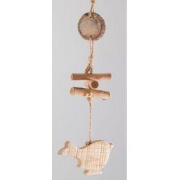 formano Deko-Hänger Vogel aus Naturholz, 34 cm