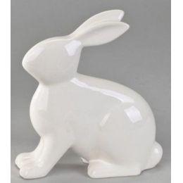 formano Deko-Hase in Creme, glasiert, sitzend, 20 cm