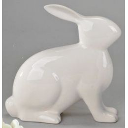 formano Deko-Hase in Creme, glasiert, sitzend, 25 cm