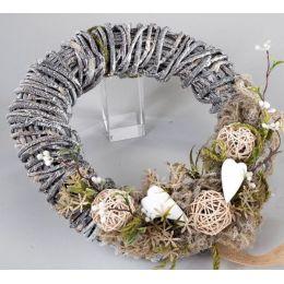 formano Deko-Kranz aus Naturholz mit Herzen, 29 cm