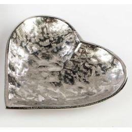 formano Deko-Schale in Herzform Alu Organic, 25 cm
