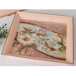 formano Deko-Tablett Magnolie creme, 29 cm