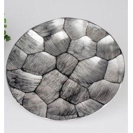 formano Deko Teller Palazzo aus Aluminium, 21 cm