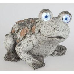 formano Dekofigur Frosch im Stein Mosaik Look mit Solar, 39 x 26 cm
