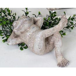 formano Dekofigur Frosch liegend in Steinoptik, 19 cm