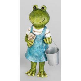 formano Dekofigur Froschfrau mit Eimer in der Hand, 21 cm