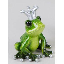 formano Dekofigur Froschkönig in Grün mit Krone, 10 cm