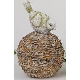 formano Dekokugel für den Garten mit Vogel, 18 cm