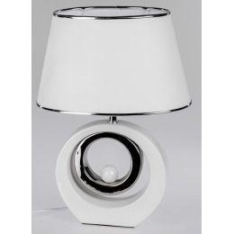 formano Dekorations Lampe in Weiß Silber aus Keramik, 45 cm