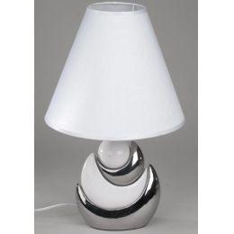 formano Dekorations Lampe in Weiß-Silber, 45 cm hoch