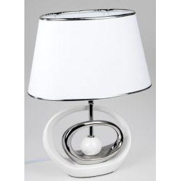 formano exklusive Dekorations Lampe in Weiß-Silber aus Keramik , 43 cm