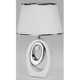 formano exklusive Dekorations Lampe in Weiß-Silber, 48 cm