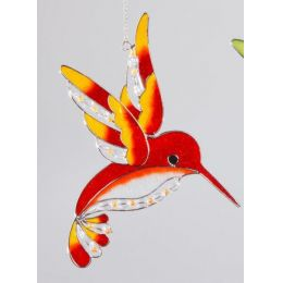 formano Fensterschmuck Eisvogel Tiffany orange, 25 cm