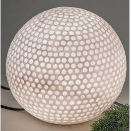 formano Gartenlampe Kugel aus Fiberglas, 34 cm