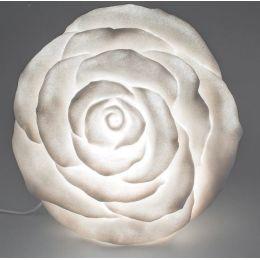 formano Gartenlampe Rose aus Fiberglas, 35 cm