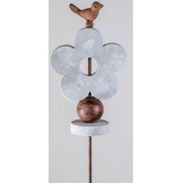 formano Gartenstecker aus Metall, Motiv Blume, 115 cm