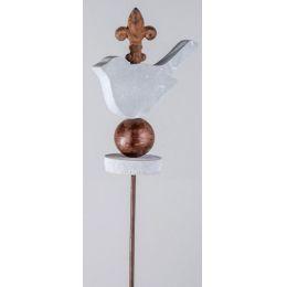 formano Gartenstecker aus Metall, Motiv Vogel, 115 cm