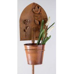 formano Gartenstecker Schaufel als Pflanztopf mit Vogel, 115 cm