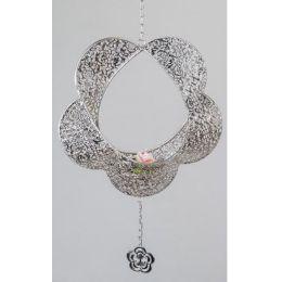 formano Hängedeko Blume als Kerzenhalter in Prado Silber, 44 cm