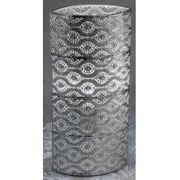 formano Kugellampe Capri silber, oval 18 x 38 cm