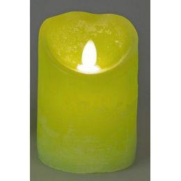 formano LED Deko-Kerze mit Beleuchtung in Grün, 8 x 12 cm