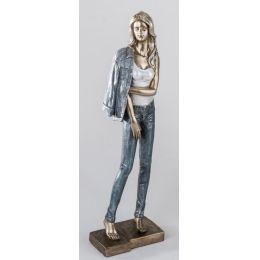 formano Skulptur Dame stehend, 42 cm mit Jeans