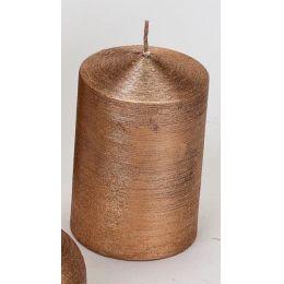 formano Stumpenkerze gerillt kupfer, 7 x 15 cm
