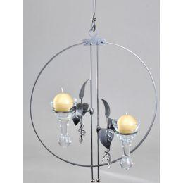 formano Teelichthalter als Dekohänger Kreisel in Silber, Metall, 45 cm