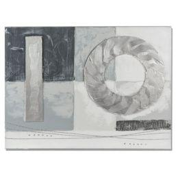 formano Wandbild aus Holz Kreise 60 x 80 cm