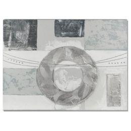 formano Wandbild aus Holz und Metall Kreis 60 x 80 cm