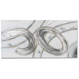 formano Wandbild, Holz und Alu in Silber und Gold DESIGN 100 x 50 cm