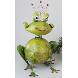 formano Windlicht Frosch in Grün aus Sunshine Metall 50 cm