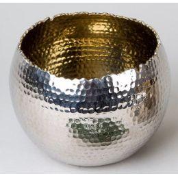 formano Windlicht Kugel Aura Nickel Gold, 16 cm