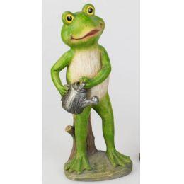 formano witzige Dekofigur Frosch mit Gießkanne in Grün, 30 cm
