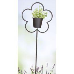Gartenstecker als Pflanztopf, 36/110 cm