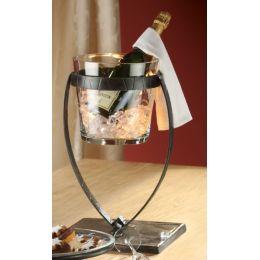 GILDE Champagnerkühler Vulcano aus Eisen, 27 x 27 x 45 cm