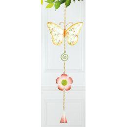 GILDE Deko-Hänger Schmetterling aus Metall, gelb, grün 65 cm
