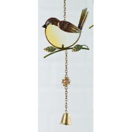 GILDE Dekohänger Vogel als Fensterbild,braun 47 cm