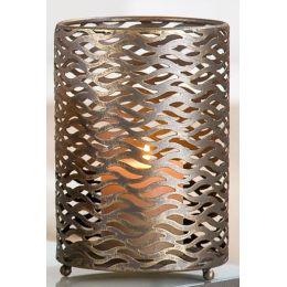 GILDE Kerzenleuchter aus Metall Antik Gold, 21 x 14 cm