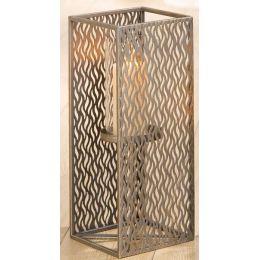 GILDE Kerzenleuchter aus Metall und Glas in Antik Gold, 46 cm