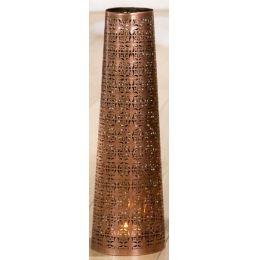 GILDE Metall-Leuchter, konisch, in Kupfer 14 x 45 cm
