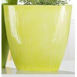 GILDE nostalgische Pflanzschale rund, lemongrün, 11 x 32 x 31 cm