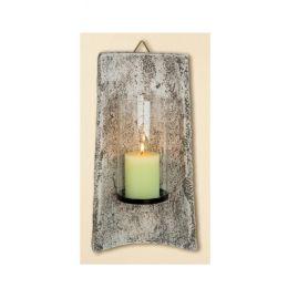 GILDE Wandziegel als Kerzenhalter, 13,5x21x40,5 cm