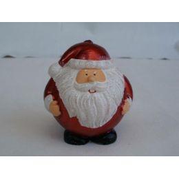 Kerze Weihnachtsmann in Rot und Weiß, ca. 8 cm