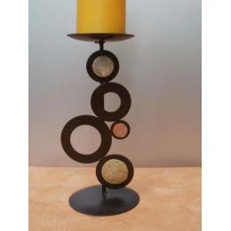 Kerzenhalter Loch-Stein aus Metall