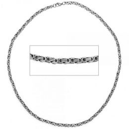 Königskette Edelstahl 50 cm Halskette Kette Karabiner