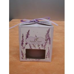 Lavendel-Duftkerze im Glas