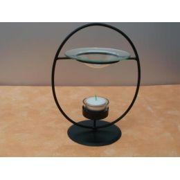 Moderne Metall-Duftlampe in Schwarz
