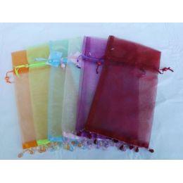 Organza Säckchen in 6 Farben, 27 x 12 cm